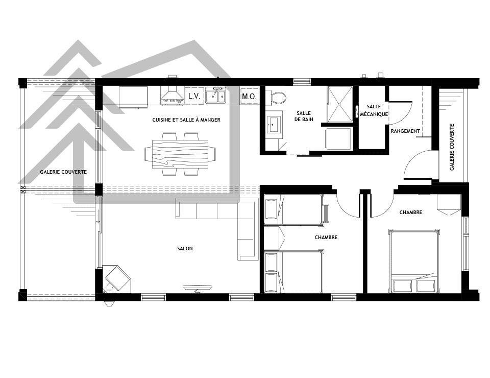 plan surface chalet kodiak